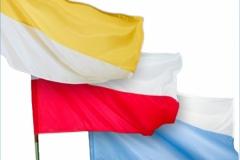 Zestaw flag kościelnych religijnych