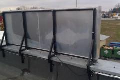 Kaseton reklamowy jednostronny LED STANDARD w ramie aluminiowej konstrukcja dachowa