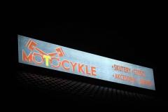 Kaseton jednostronny LED z licem z banera do podświetleń BACKLIT widok nocny