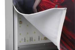 Kaseton reklamowy podświetlany dwustronny z licem tekstylnym