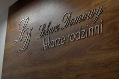 Napis frezowany 3D z dibondu szczotkowanego 3 mm Bolesławiec