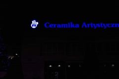 Logotyp 3D LED z taśmy ALURAPID montaż na dachu budynku