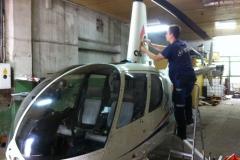 Oklejanie statku powietrznego/helikoptera dla sponsora zawodów sportowych