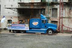 Reklama na ciężarówce. Lwówek Śląski