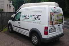 Reklama na mini vanie mini busie sklepu Hubert