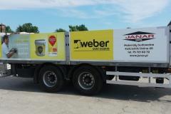 Reklama na naczepie pojazdu ciężarowego. Janar Gis Kościelniki Dolne