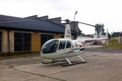 Reklama na statku powietrznym helikopter. Bolesławiec
