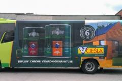 Reklama na autobusie komunikacji miejskiej. BZM Cieśla Bolesławiec