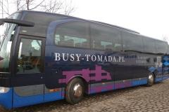 Reklama na auktokarze firmy Tomada z Bolesławca