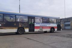 Reklama na autobusie komunikacji miejskiej. MZK Bolesławiec
