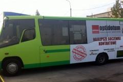 Reklama na autobusie komunikacji miejskiej dla firmy OPTIMUM
