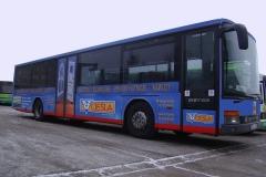 Reklama na autobusie dla firmy BZM Ciesla