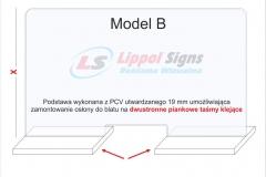 Osłona standardowa z plexi na ladę biurko model_B