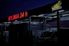 Napis podświetlany 3D LED wykonany w technice liter blokowych z taśmy ALURAPID. Centrum Ogrodnicze Meduza w Kruszynie