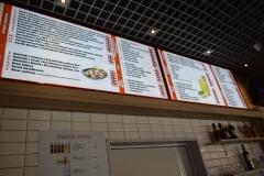 Kaseton CLICK. Menu podświetlane restauracja Łąka