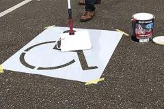Szablon stanowiska parkingowego dla niepełnosprawnych