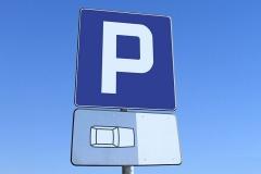 Tablica znak drogowy parking