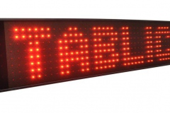 Tekstowy wyświetlacz monochromatyczny LED czerwony