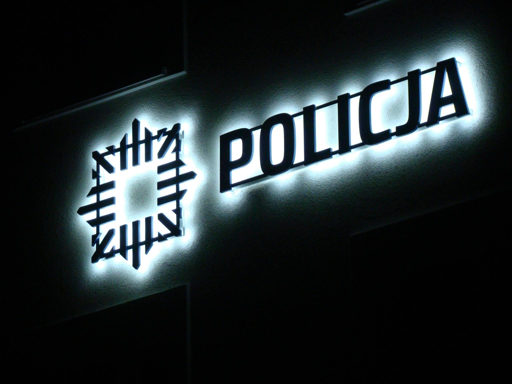Logotyp logo 3D LED Policja PVC 19 mm efekt HALO