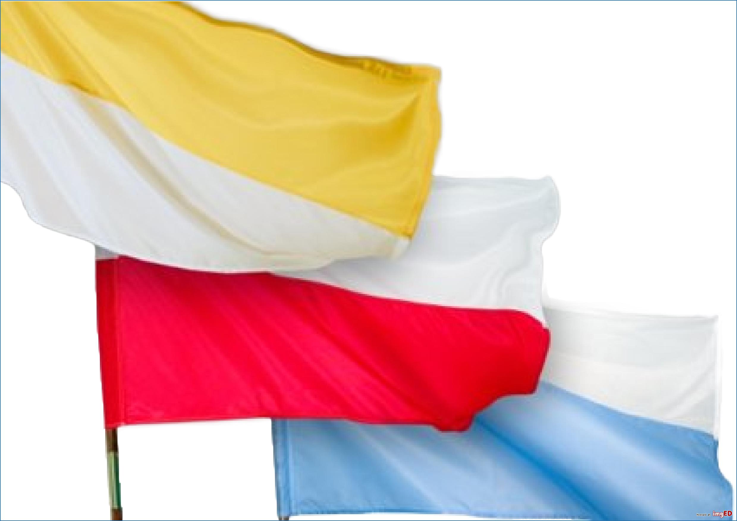 Flagi religijne kościelne komplet
